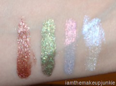 Obsessive Compulsive Cosmetics Fragmented Alice Loose Colour Concentrate swatches