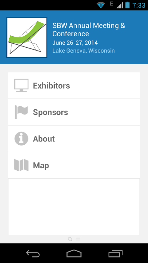 SBW Annual Meeting & Conf. - screenshot
