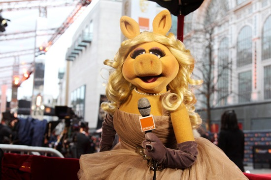 Miss Piggy of The Muppets attends The Orange British Academy Film Awards 2012