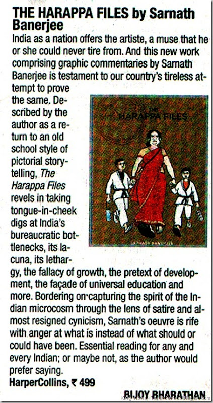 Times of India Chennai Edition Page No 7 Chennai Times Book Review Harappa Files