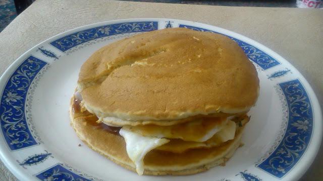 Savoury breakfast pancake