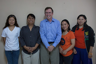 Four Burmese activists with Jim Fruchterman