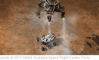 'Curiosity Touching Down, Artist's Concept' photo (c) 2011, NASA Goddard Space Flight Center - license: http://creativecommons.org/licenses/by/2.0/