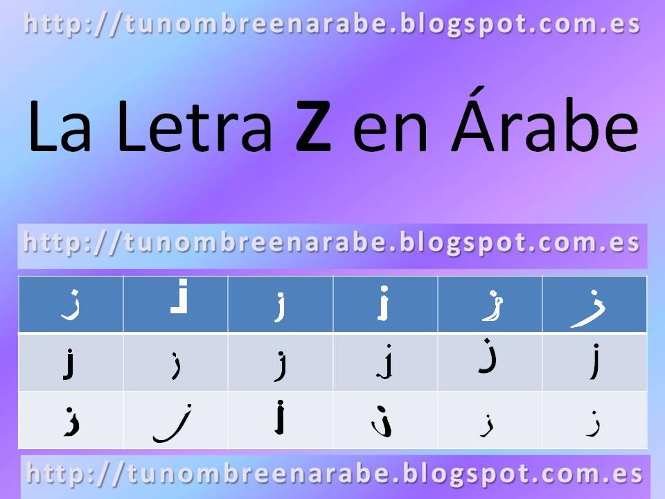 La letra Z escrita en árabe para tatuajes