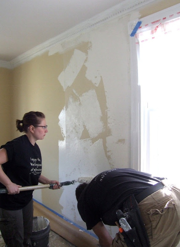 Painting cheesecloth onto walls for texture