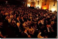Público que compareceu à cerimônia