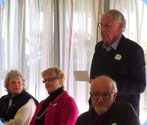 St Annes Blind Club members listening to Mike Fish reminisce about the early days of the Club