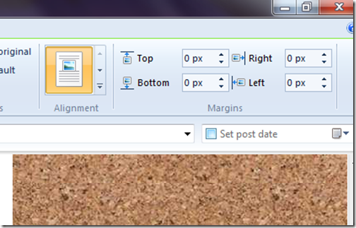 livewriter picture format toolbar