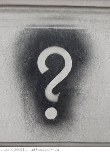 'Question mark' photo (c) 2009, Konrad Förstner - license: http://creativecommons.org/licenses/by/2.0/