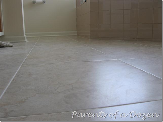 parents of a dozen how to prepare a floor for ceramic tile. Black Bedroom Furniture Sets. Home Design Ideas