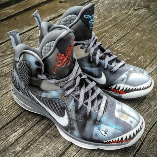 Nike LeBron 9 8220Wounded Warriors Project8221 Custom By Mache