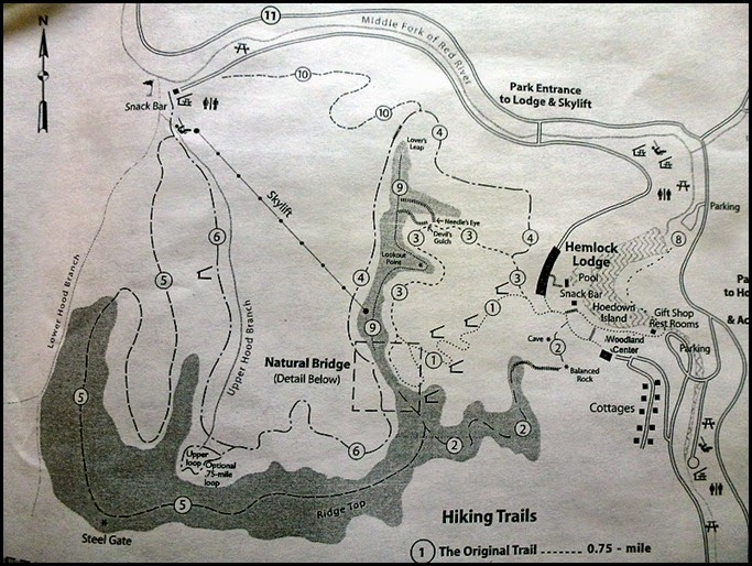 00 - Natural Bridge State Park Hiking Trails Map