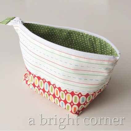Open Wide Zipper Pouch