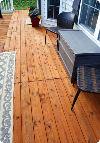 redwood deck stain