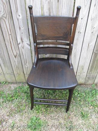 antique pew chair restoration (23)