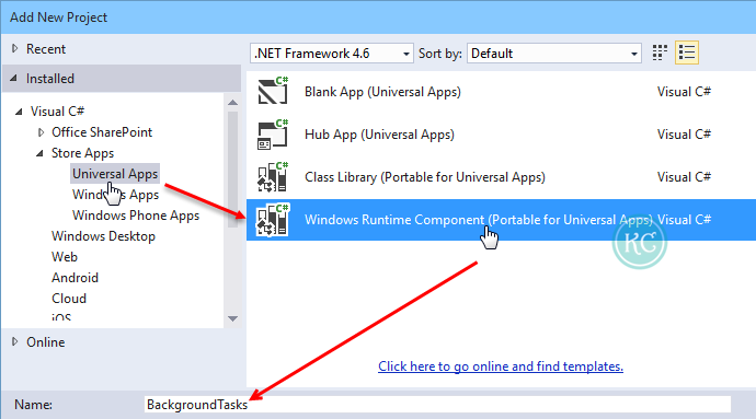 2. Create new Windows Runtime Component