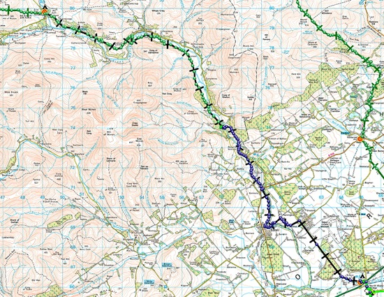 TGO CHALLENGE 2012- DAY 13 MAP
