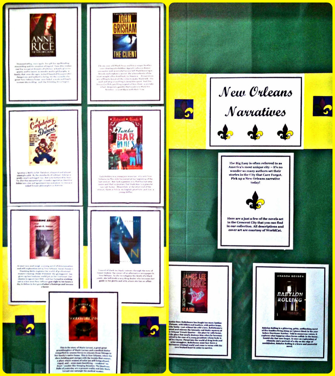 New Olreans Narratives display