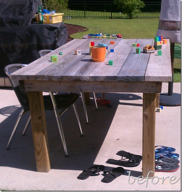 Our Made from Scratch Picnic Table: A DIY- design addict mom #diy