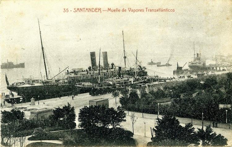 Postal. El ALFONSO XII en Santander..JPG