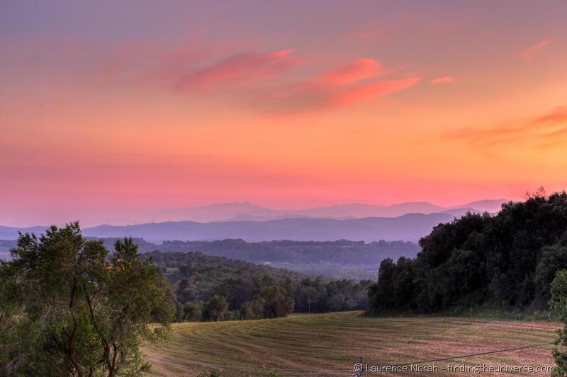 Sunset costa brava fields_