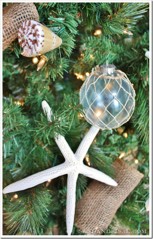 Glass Float Ornament and starfish