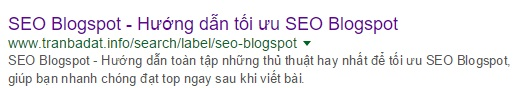 SEO label Blogspot