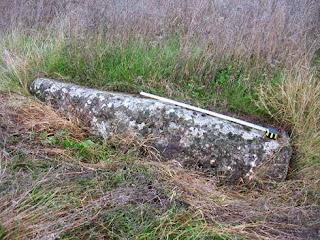 бутылочнообразный менгир, длинный камень на траве, село царев брод, болгария