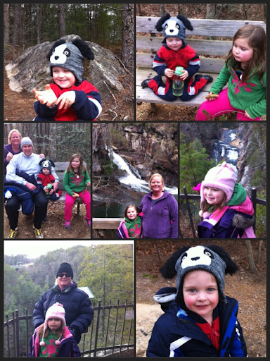 the Nevelos family enjoying the outdoors at Tallulah falls