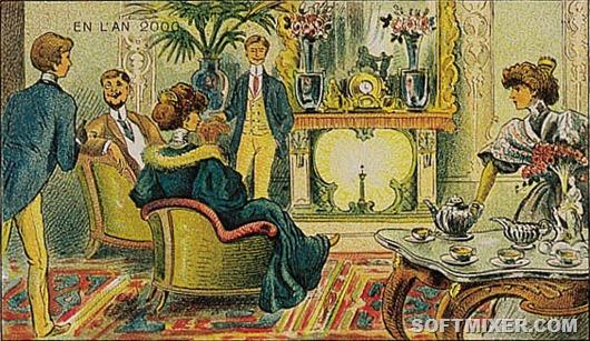 Отопление радием камин 21 века. Французская карточка 1910 года