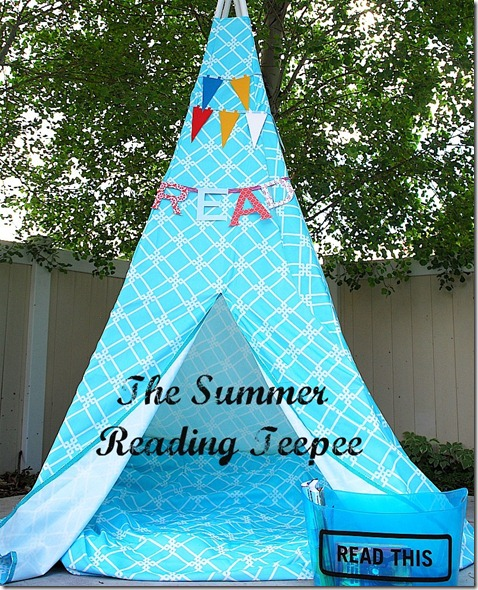 summer reading teepee