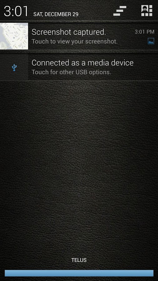 Leather Blue CM11/AOKP Theme - screenshot