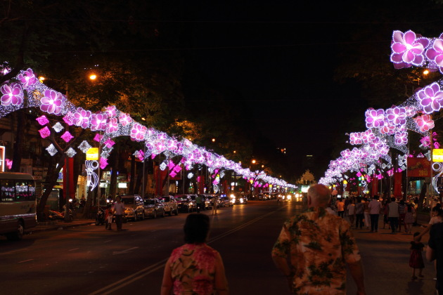 Streets of Ho Chi Minh city decked up for the Tet New Year 2013