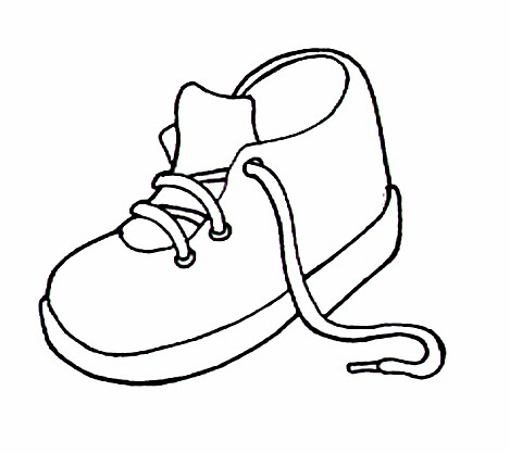 Zapatos De Niño Para Colorear