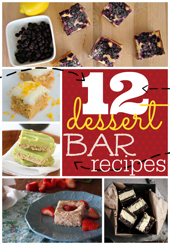 12 Dessert Bar Recipes at GingerSnapCrafts.com #linkparty #features #dessert #recipes