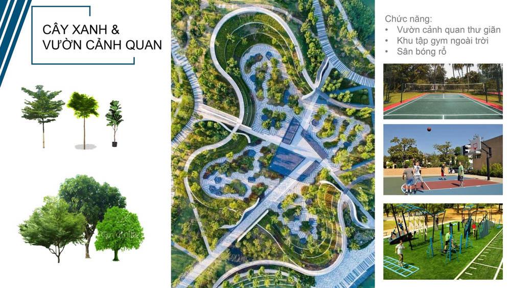 Cảnh quan cây xanh tại Felicity Uông Bí