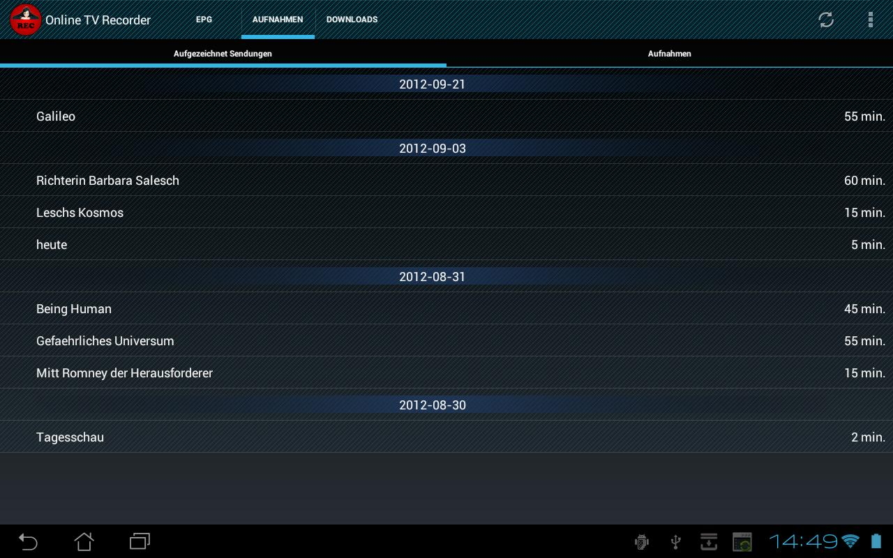 Online TV Recorder - screenshot