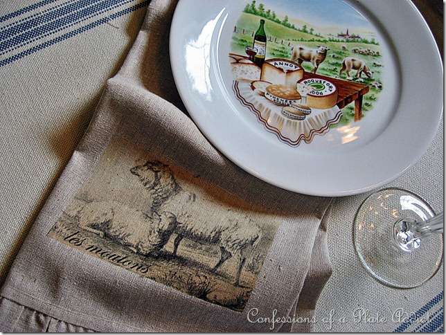 CONFESSIONS OF A PLATE ADDICT Vintage French Tea Towels