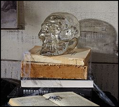 mercury glass skull