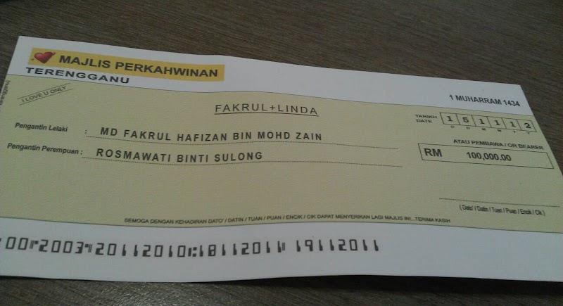 Cek RM 100 ribu palsu!