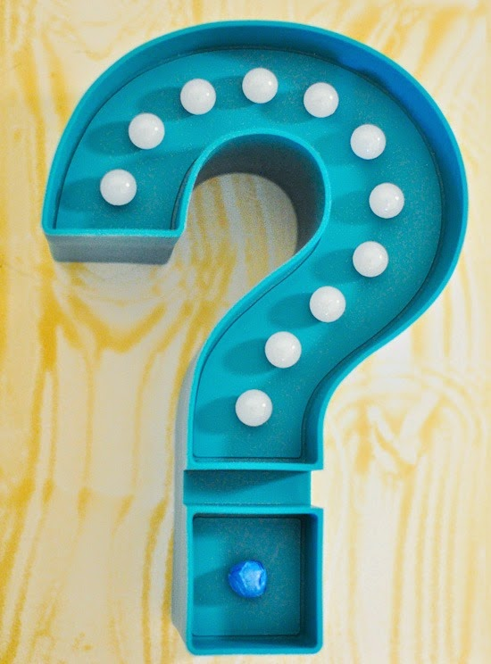 Target light-up question mark revamped into chic gold home accent #DIY