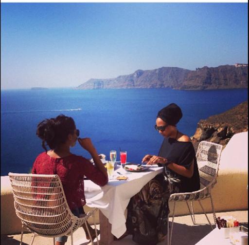 PHOTOS: Sylvia Nduka And Ene Maya's Vacation in Santorini Greece 20