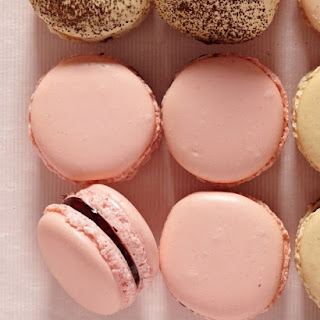 Rose Raspberry Macarons