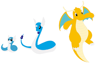 Dratini, Dragonair, Dragonite