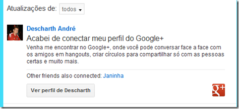 integrar G  no Orkut 3