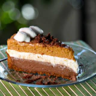 Chocolate Pumpkin Mousse Pie.