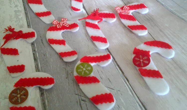 DIY decorated candy cane