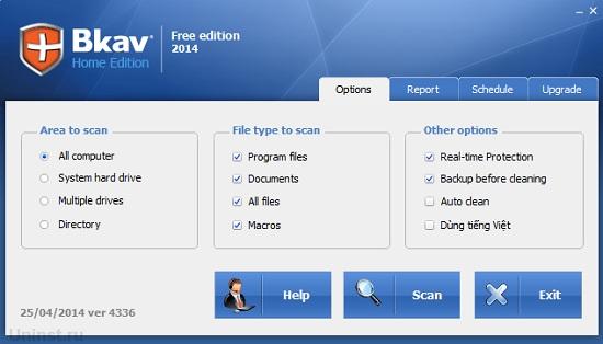 Phần mềm diệt virus miễn phí BKAV Home