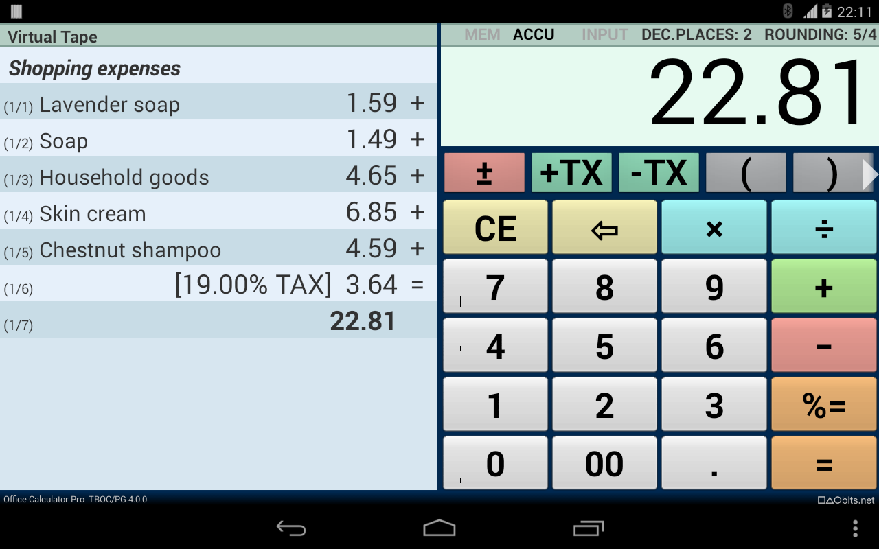 Office Calculator Pro - screenshot