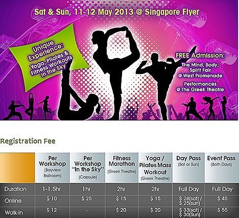 MIND BODY SPIRIT FESTIVAL 2013 SINGAPORE FLYER TICKETS GIVEAWAY High Tea flights Celebrations in May offers upload their pictures chance to win attractive prizes Raffles Ave, Singapore 039803